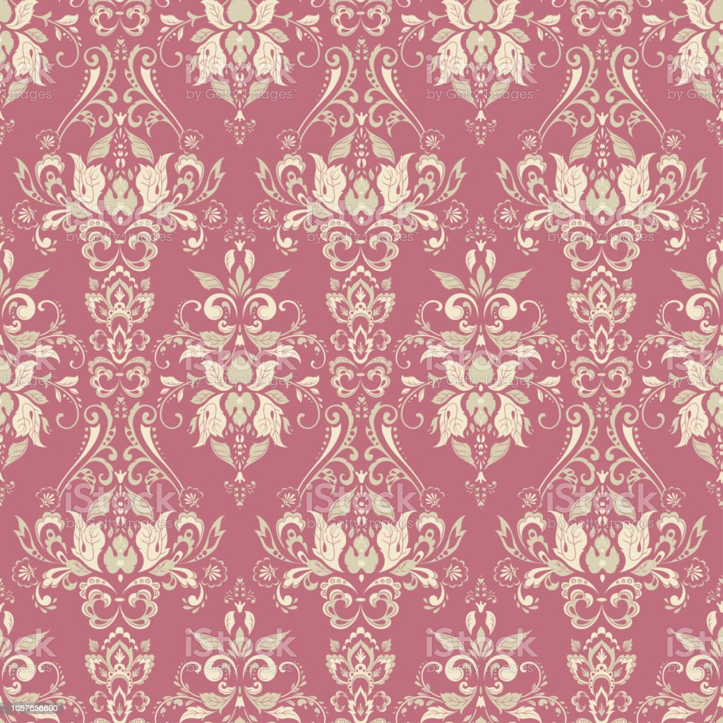 Vector Baroque Floral Pattern Classic Floral Ornament Stock