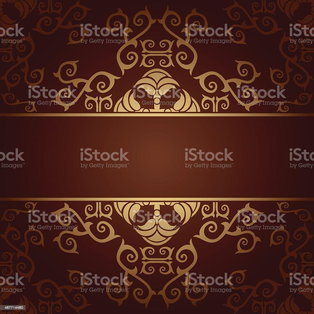 Vector baroque flowers background vector art illustration