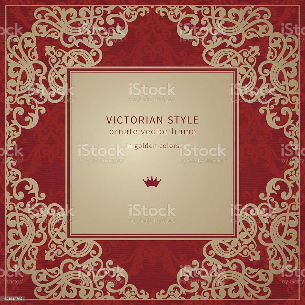 Vector baroque frame in Victorian style. royalty-free stock vector art