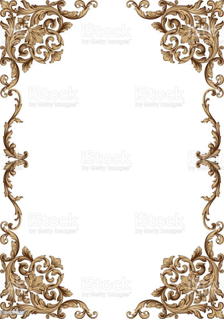 Vector baroque of vintage elements for design. vector art illustration