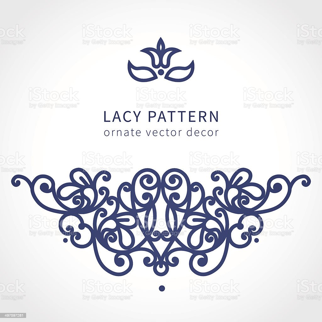Vector baroque ornament in east style. vector art illustration