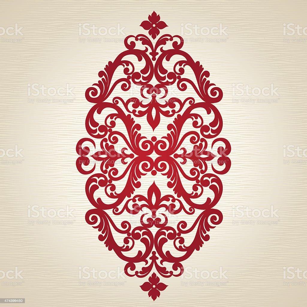 Vector baroque ornament in Victorian style. vector art illustration