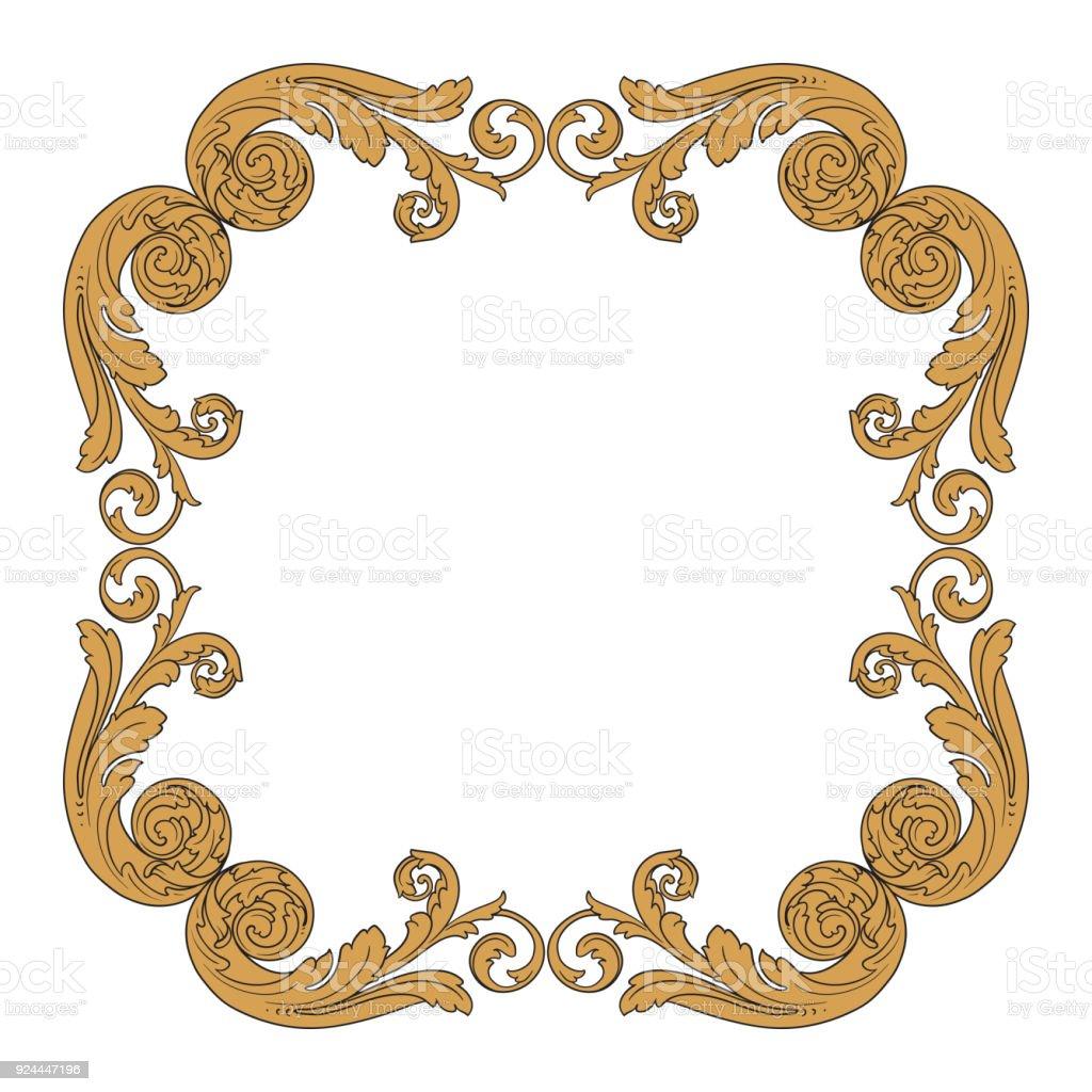 Vektor Barock Ornament Im Viktorianischen Stil Stock Vektor Art und ...