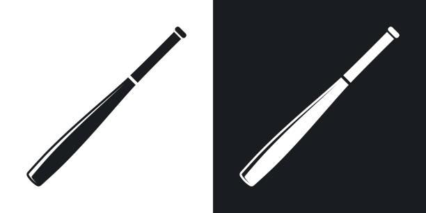 Vector baseball bat icon. Two-tone version – Vektorgrafik