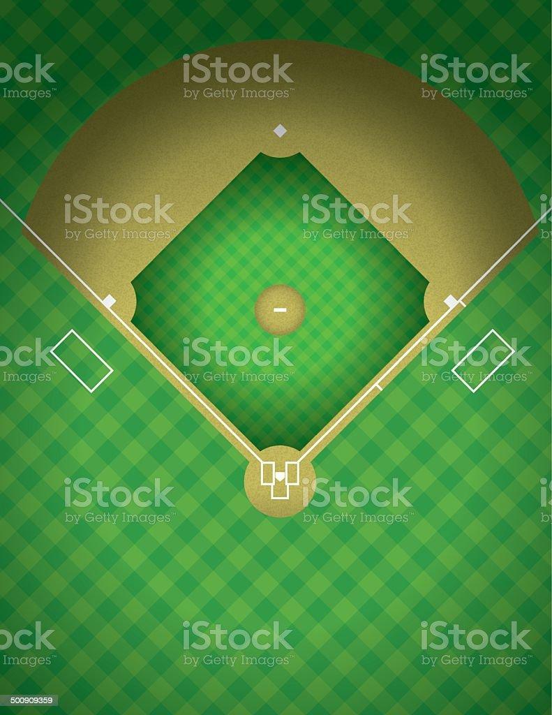 Vector Baseball Field Illustration vector art illustration