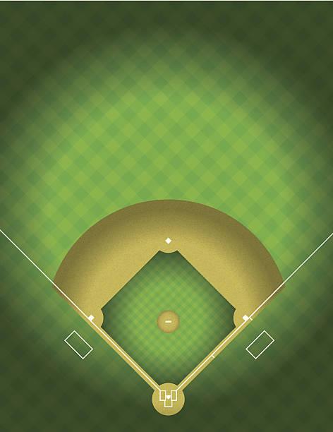 vector baseball field - baseball stadium stock illustrations, clip art, cartoons, & icons