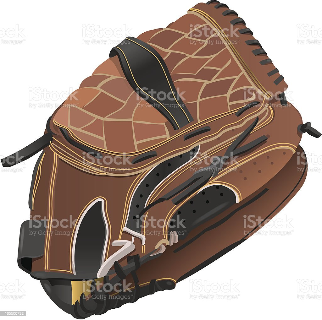 Vector Baseball Glove royalty-free stock vector art