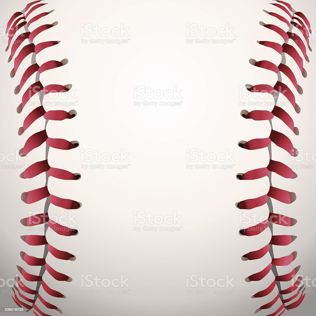 Vector Baseball Laces Closeup Background Illustration vector art illustration