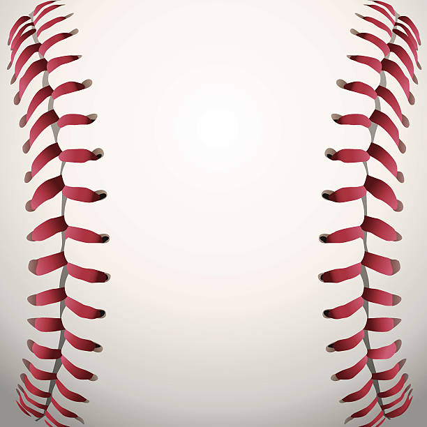 Vector Baseball Laces Closeup Background Illustration vector art illustration