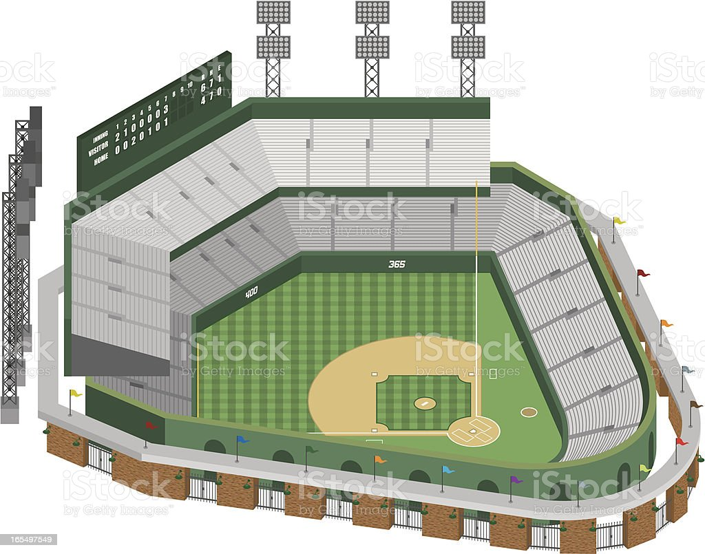 Vector Baseball Stadium royalty-free stock vector art