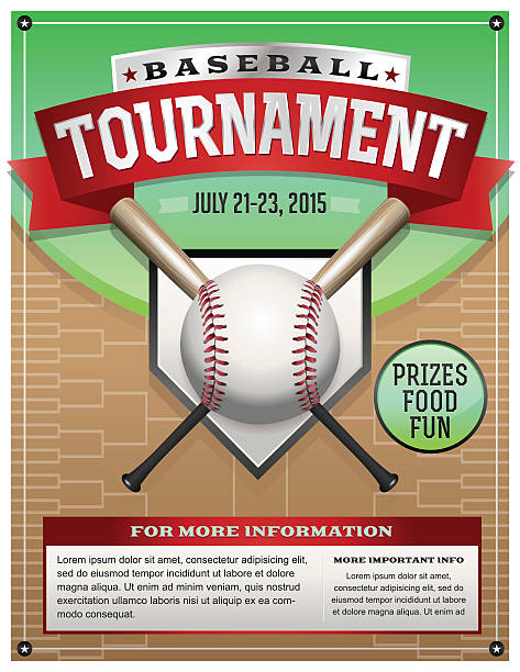 Vector Baseball Tournament Illustration vector art illustration