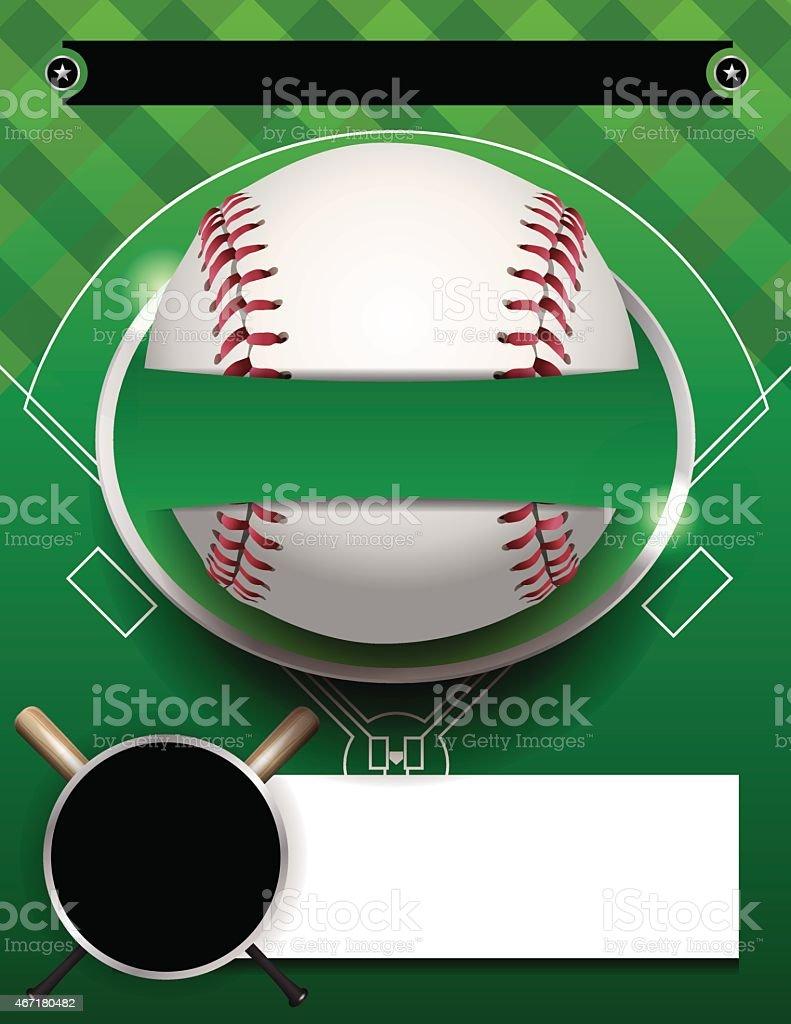 Vector Baseball Tournament Template Illustration vector art illustration
