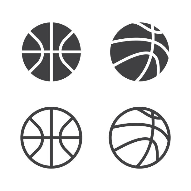 Vector Basketball Ball Icon Set Isolated on White Background. Vector Illustration EPS 10 File. basketball stock illustrations