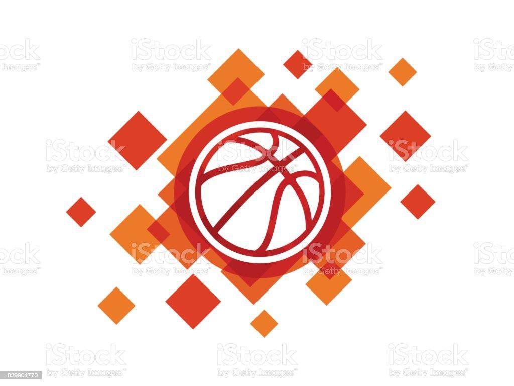 Vector Basketball ball icon vector art illustration