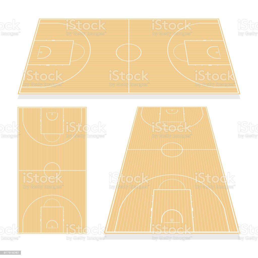 Sol Terrain De Basket terrain de basket de vecteur isolée on white background