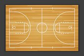 Vector Basketball Field.vector