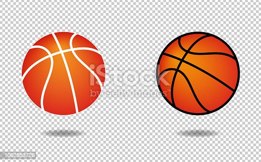 Vector basketball icon with halftone pattern