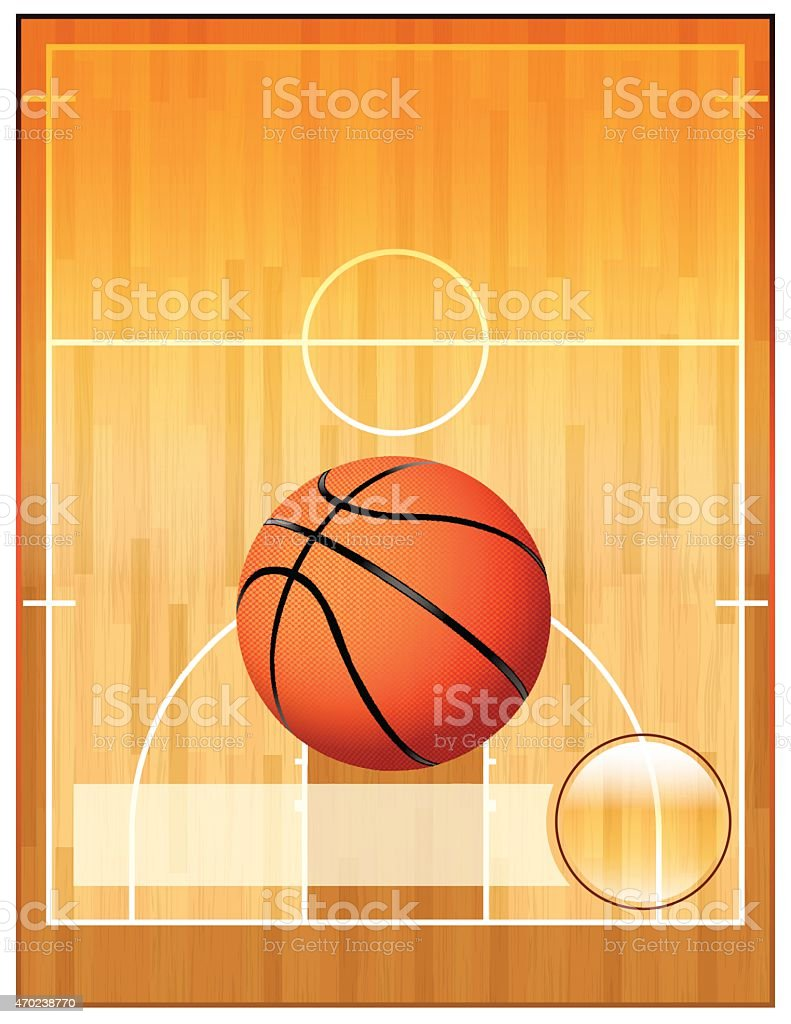 Vector Basketball League Flyer vector art illustration