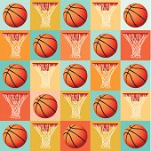 Vector Basketball Pattern Background