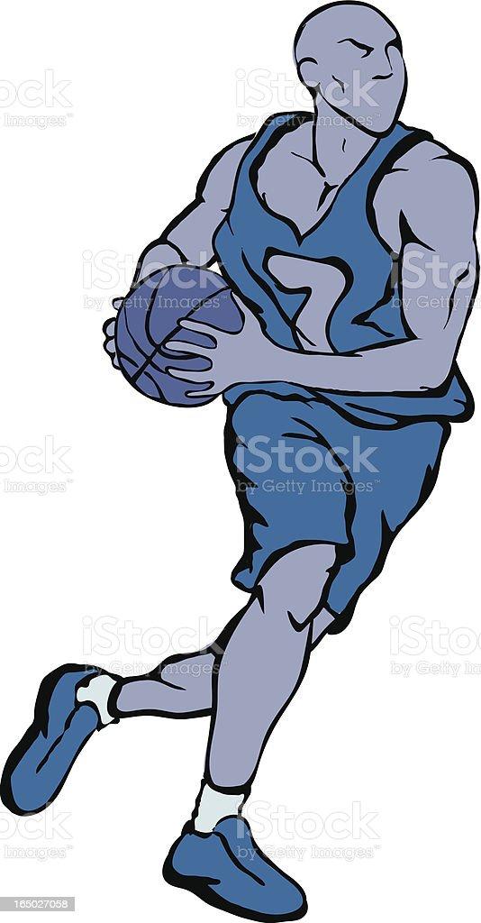 Vector Basketball Player royalty-free stock vector art