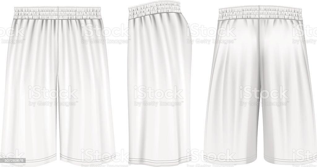 Vector basketball shorts vector art illustration