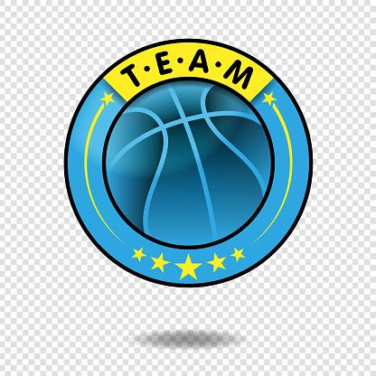 Vector basketball team or tournament logo