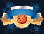A vector illustration of a basketball tournament concept. EPS 10. File contains transparencies.