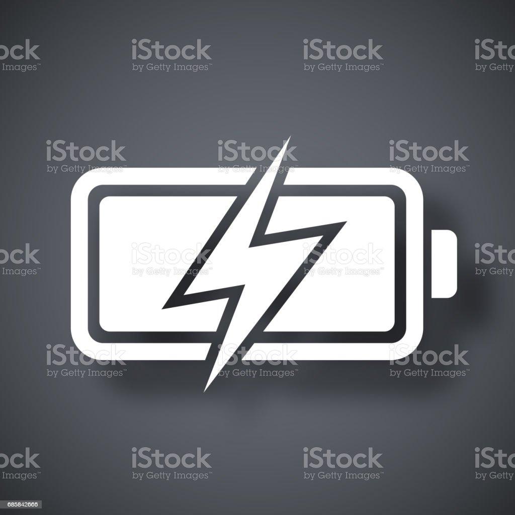 Vector battery icon, stock vector vector art illustration