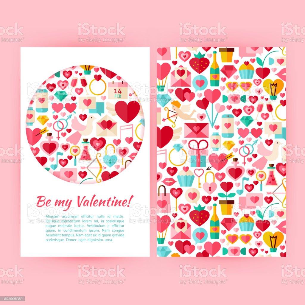 Vektorbe My Valentine Banner Setvorlage Stock Vektor Art und mehr ...