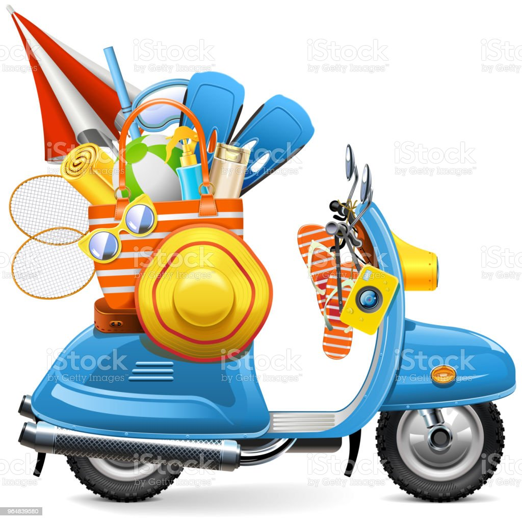 Vector Beach Scooter royalty-free vector beach scooter stock vector art & more images of badminton - sport