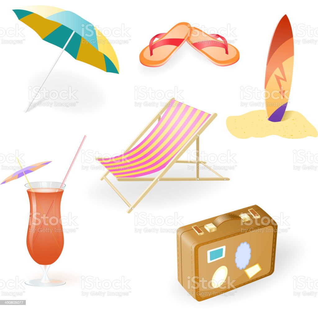 Vector Beach Set royalty-free stock vector art