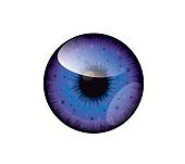 Vector beautiful blue,purple sea eye