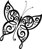 Vector Beautiful Butterfly, Exotic Insect