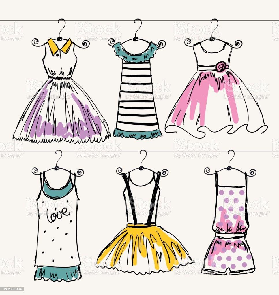 Vector de hermosa ropa ilustración de vector de hermosa ropa y más banco de imágenes de a la moda libre de derechos