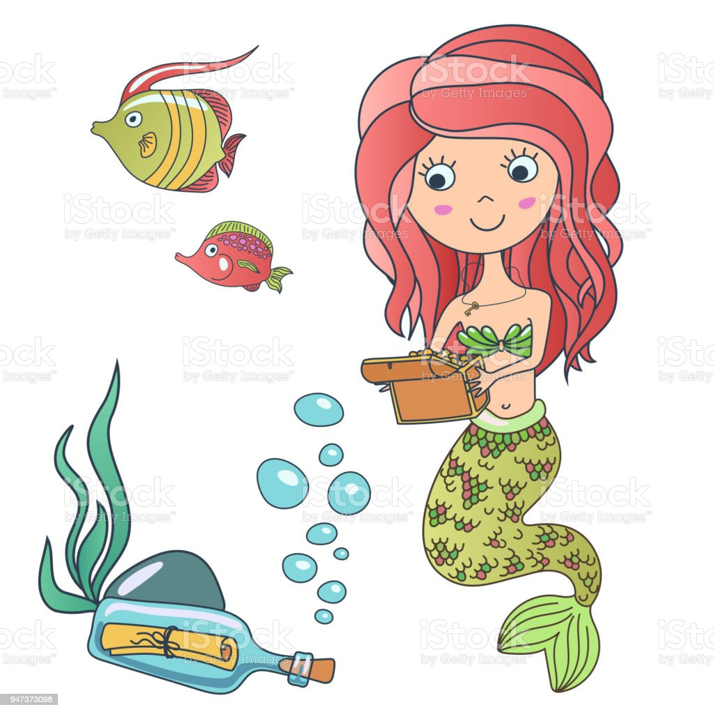 Ungewöhnlich Süsse Meerjungfrau Farbseiten Fotos - Beispiel ...