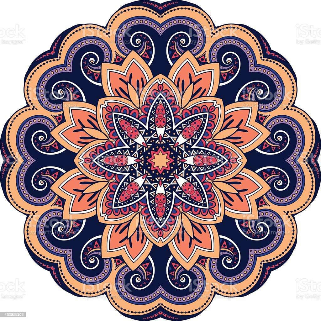 vector art d co mandala couleur stock vecteur libres de droits 482955202 istock. Black Bedroom Furniture Sets. Home Design Ideas