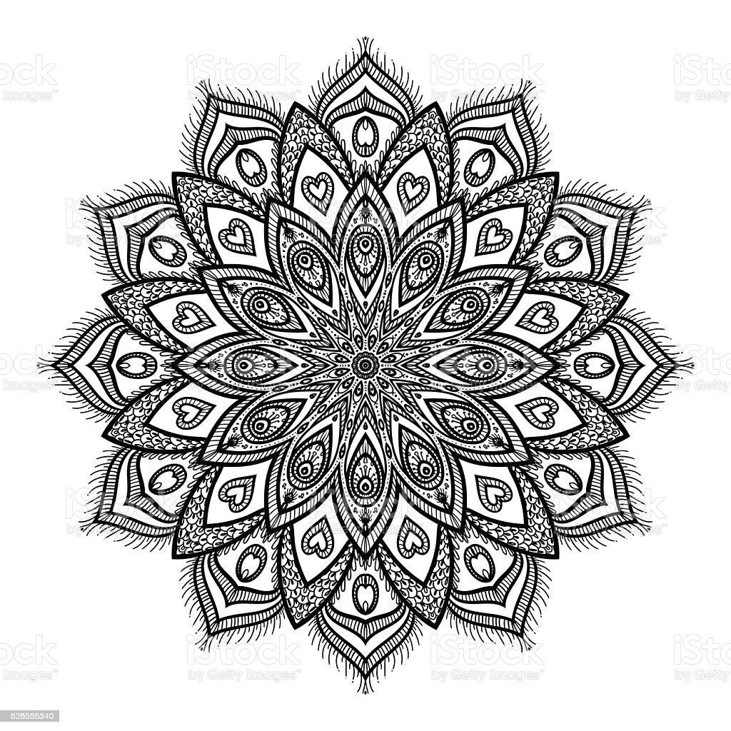 Vecteur mandala magnifique cliparts vectoriels et plus d 39 images de adulte 526555340 istock - Mandala garcon ...