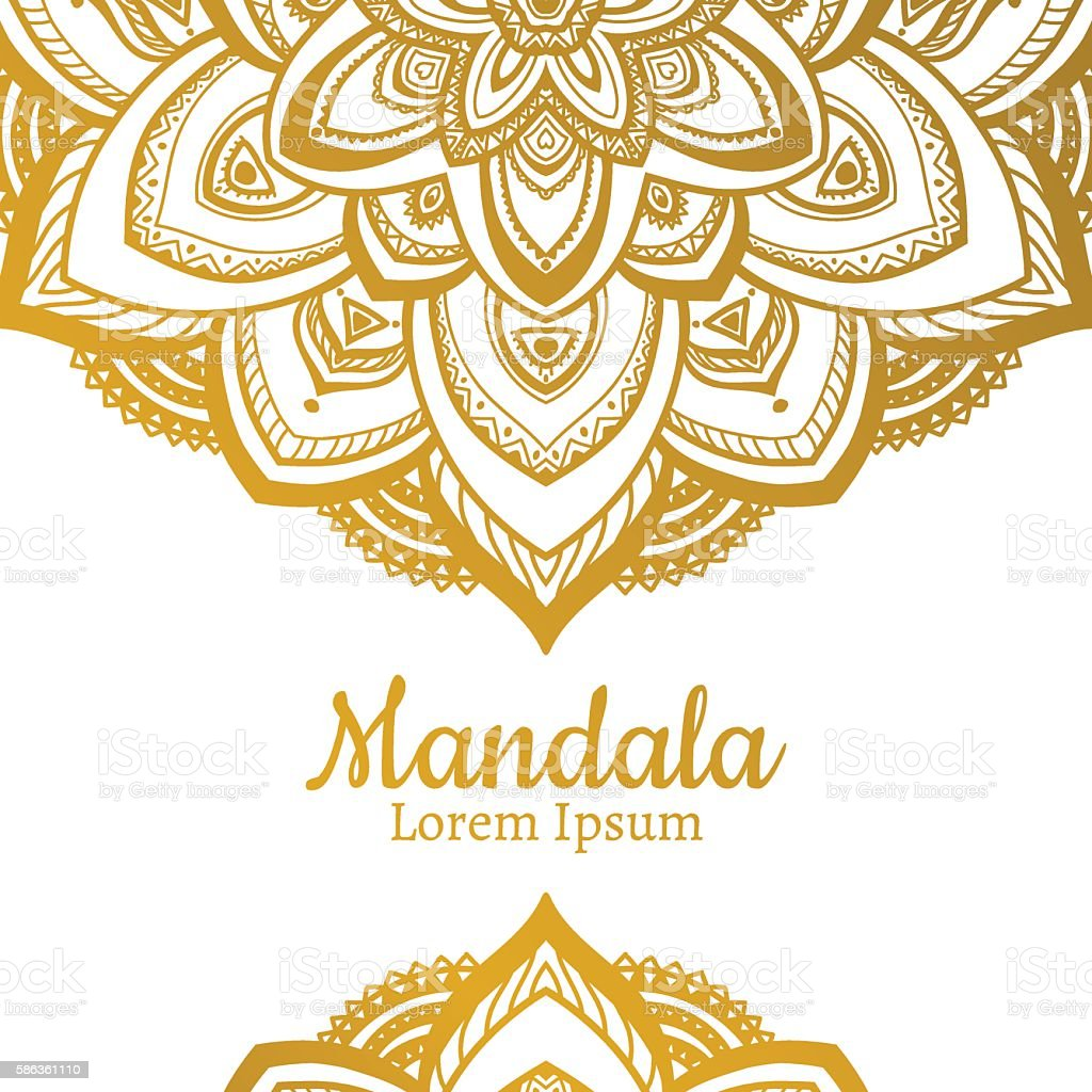 Vector Beautiful Mandala vector art illustration