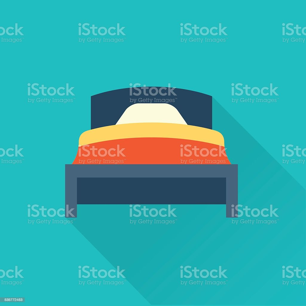 Vector bed icon FLAT vector art illustration