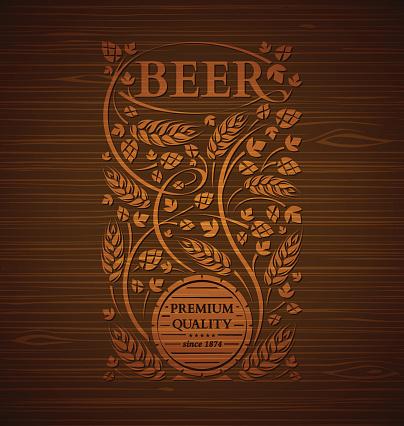 Vector beer emblem