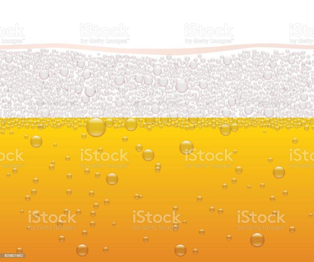 Vector beer horizontal seamless pattern. vector art illustration