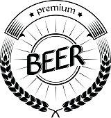 Vector beer Label, emblem, badge. Vector design element