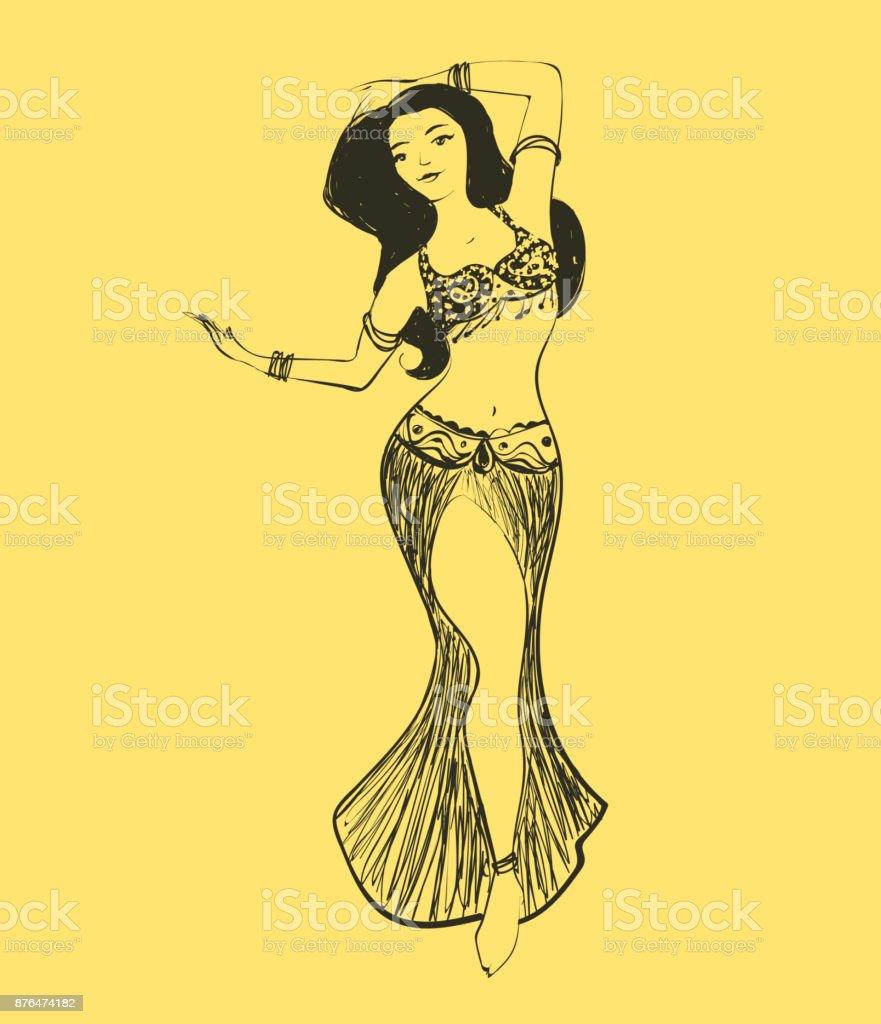 Vector belly dance illustration vector art illustration