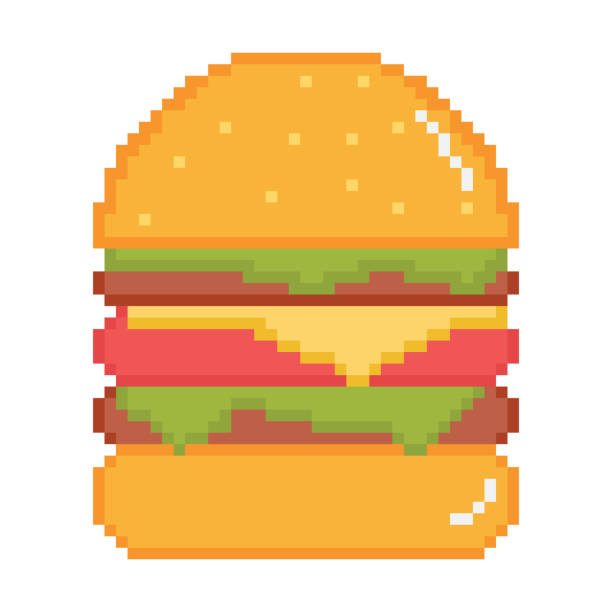 beste burger vektorgrafik. - hamburger schnellgericht stock-grafiken, -clipart, -cartoons und -symbole