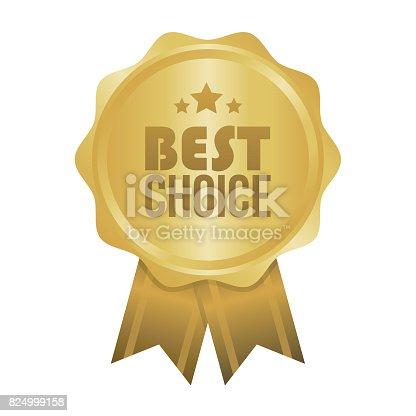 Vector Best Choice Gold Sign, Round Label.