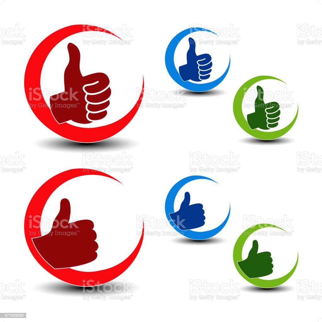 Vector Best Choice Icons Gesture Hand Symbols Stock Vector Art