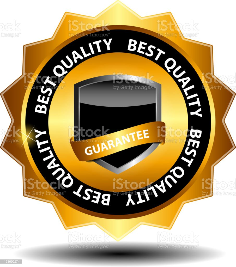 Vector best choice  label with gold ribbon. royalty-free stock vector art