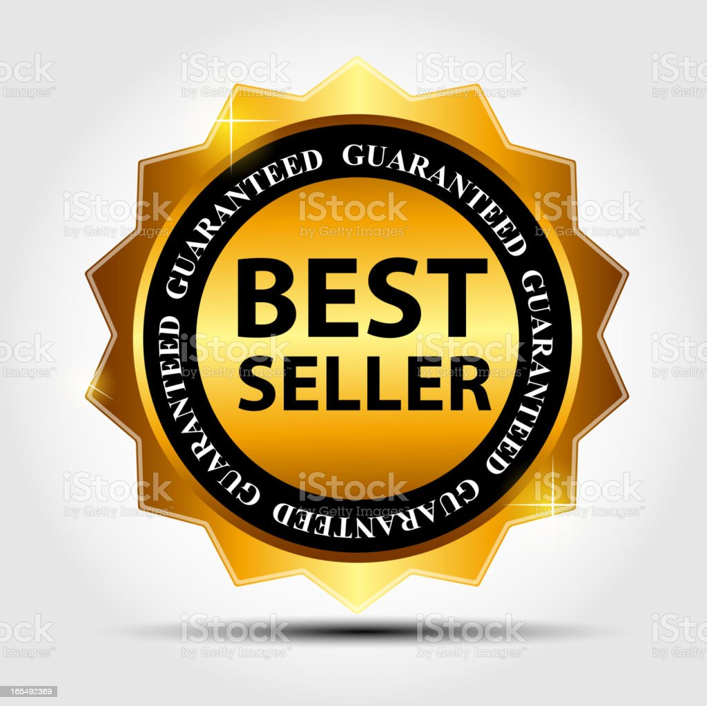 Vector best seller label royalty-free stock vector art