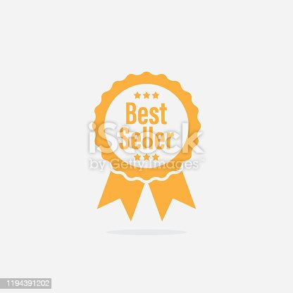 Vector Best Seller Ribbon Medal