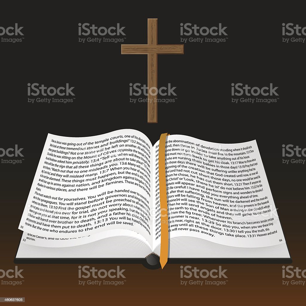 vector bible with cross royalty-free vector bible with cross stock vector art & more images of 14-15 years